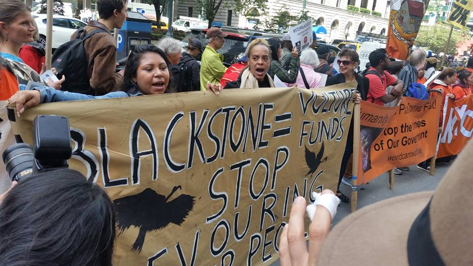International action against Blackstone