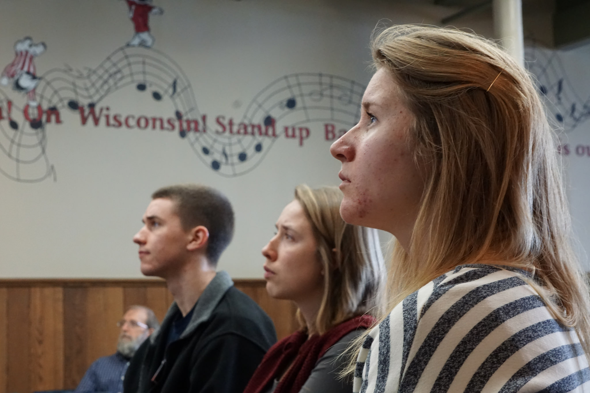 Students at University of Wisconsin-Madison watch the closing ceremony of their teach-in after a weekend of workshops, discussions, and debates about the Next System. (Photo: Michelle Stearn)