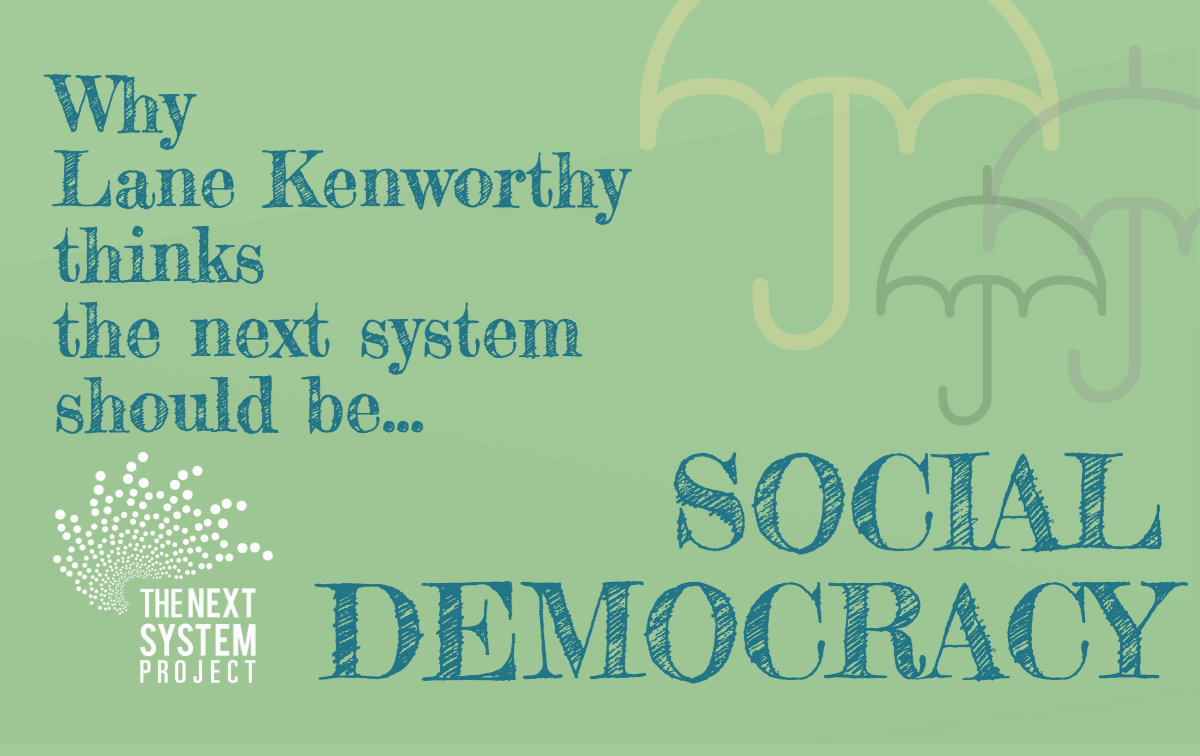 This infographic illustrates some of Kenworthy's key ideas on Social Democracy.