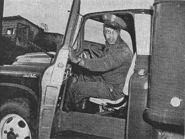 A black Teamster steward in the 1950s