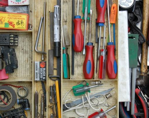 A collection of neatly organized tools
