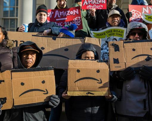Amazon New York City protest