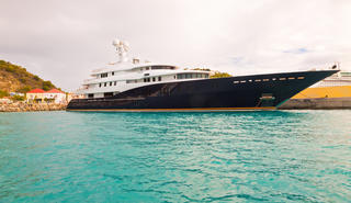 A luxutry superyacht