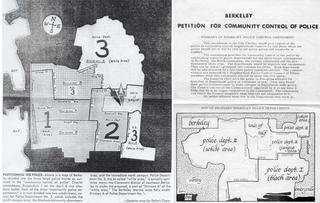 Maps and petitions from a 1970 campaign for community control
