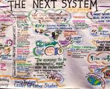 Graphic notes recorded during an event discussion the next system