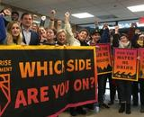 "Sunrise Movement ""What Side Are You On"" protest November 2018"