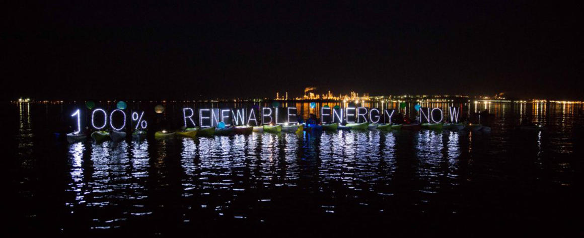 100% Renewable energy now