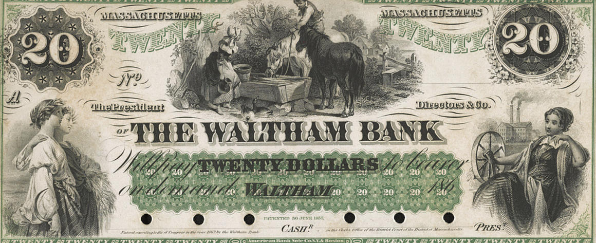 A private bank note from the 19th century